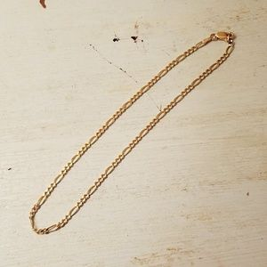 """Jewelry - *SOLD* 11"""" 14K Anklet Yellow Gold Ex Long Figaro"""